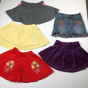 Girls size 4 skirt / skort Bundle Lot EUC 5 skirts